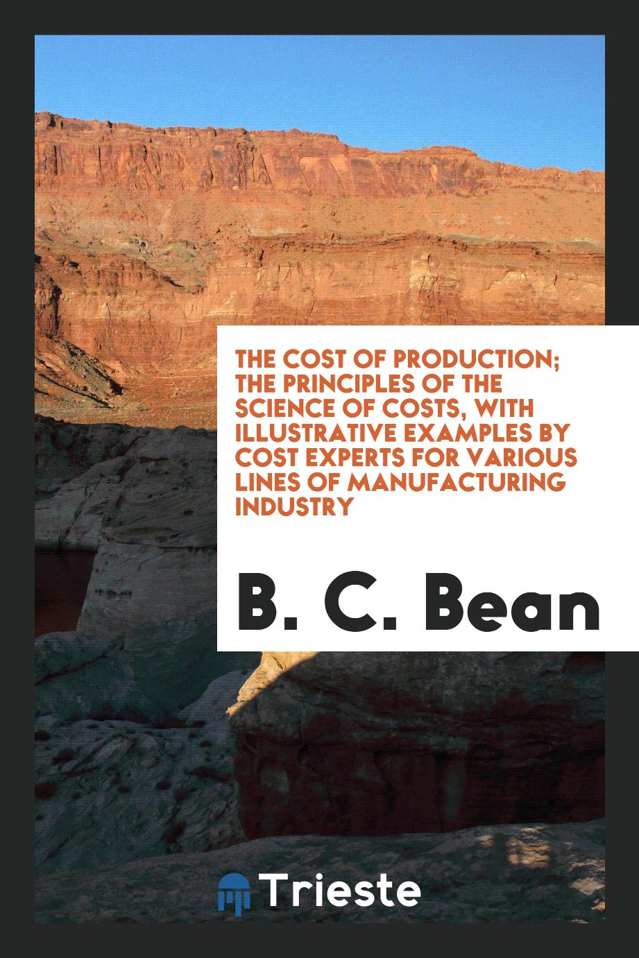 The Cost of Production; The Principles of the Science of Costs, with Illustrative Examples by Cost Experts for Various Lines of Manufacturing Industry