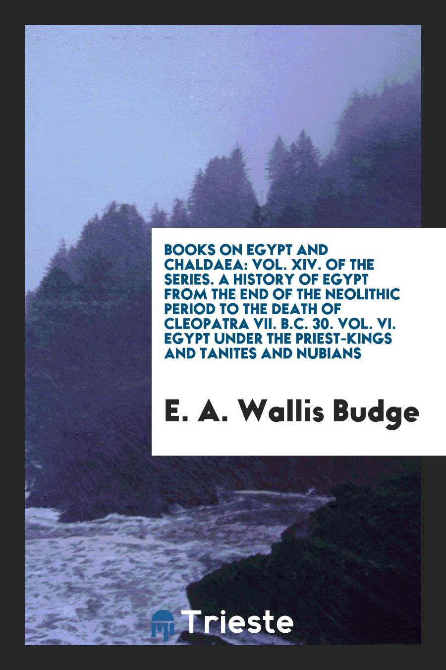 Books on Egypt and Chaldaea: Vol. XIV. Of the Series. A History of Egypt from the End of the Neolithic Period to the Death of Cleopatra VII. b.c. 30. Vol. VI. Egypt under the Priest-Kings and Tanites and Nubians