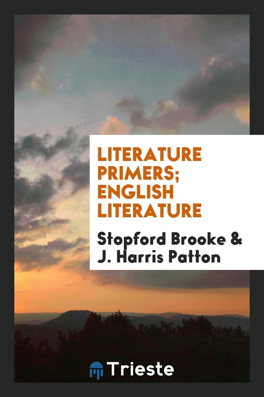 Literature Primers; English Literature