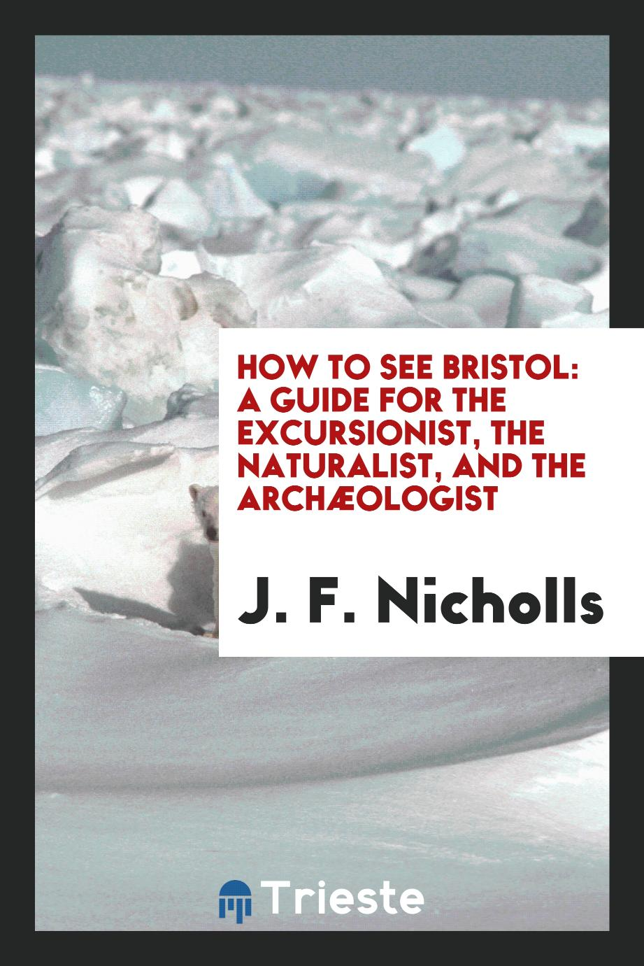 How to See Bristol: A Guide for the Excursionist, the Naturalist, and the Archæologist