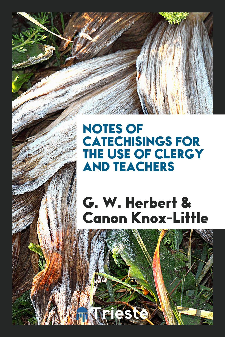 Notes of Catechisings for the Use of Clergy and Teachers