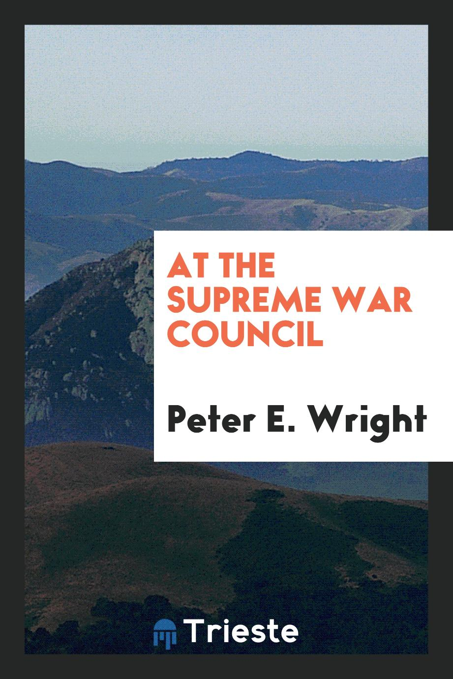 At the supreme War Council