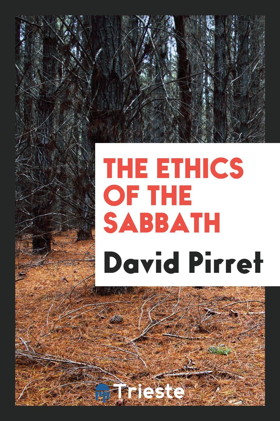 The ethics of the sabbath
