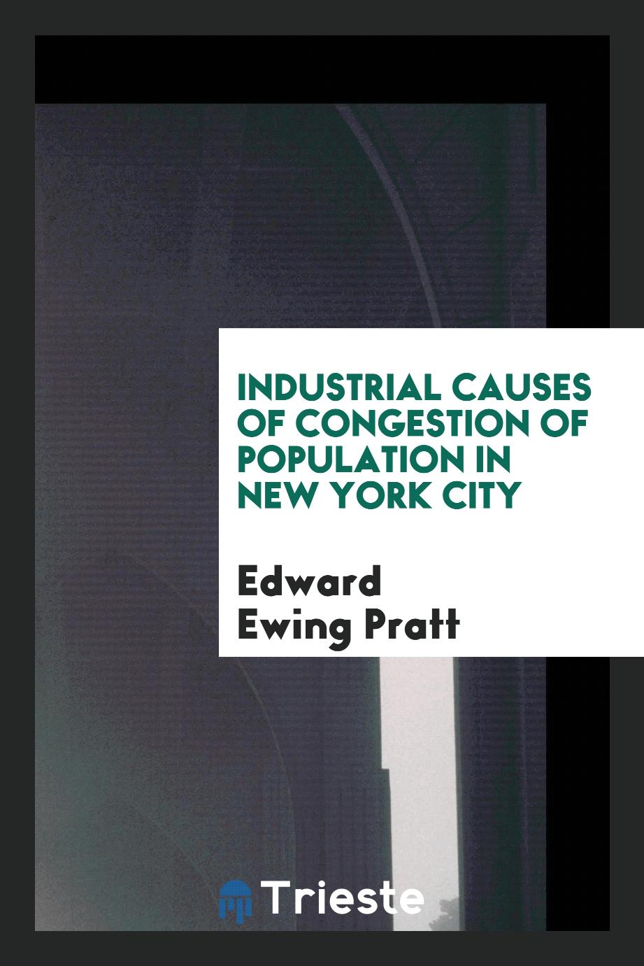 Industrial causes of congestion of population in New York City