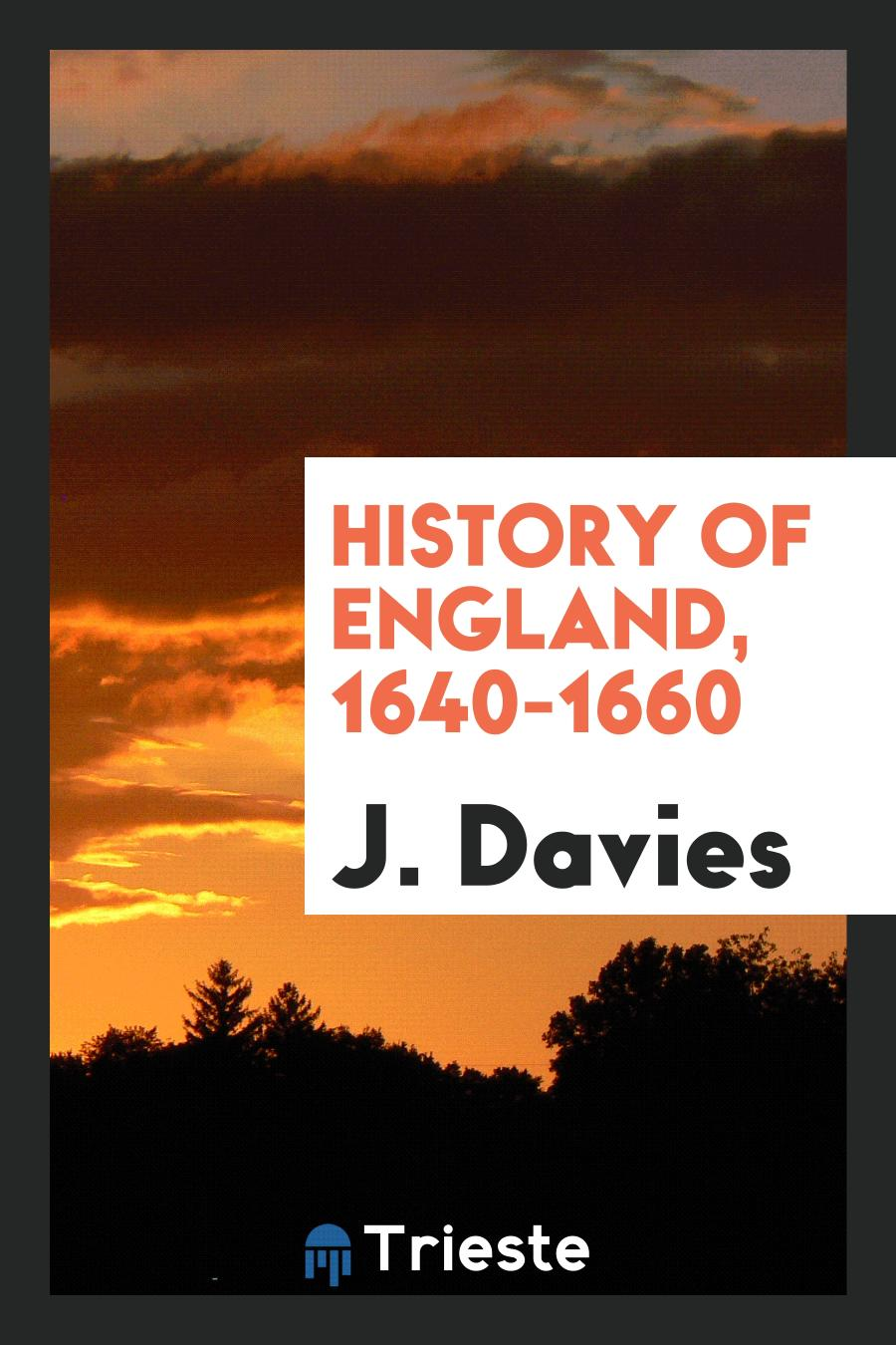 History of England, 1640-1660