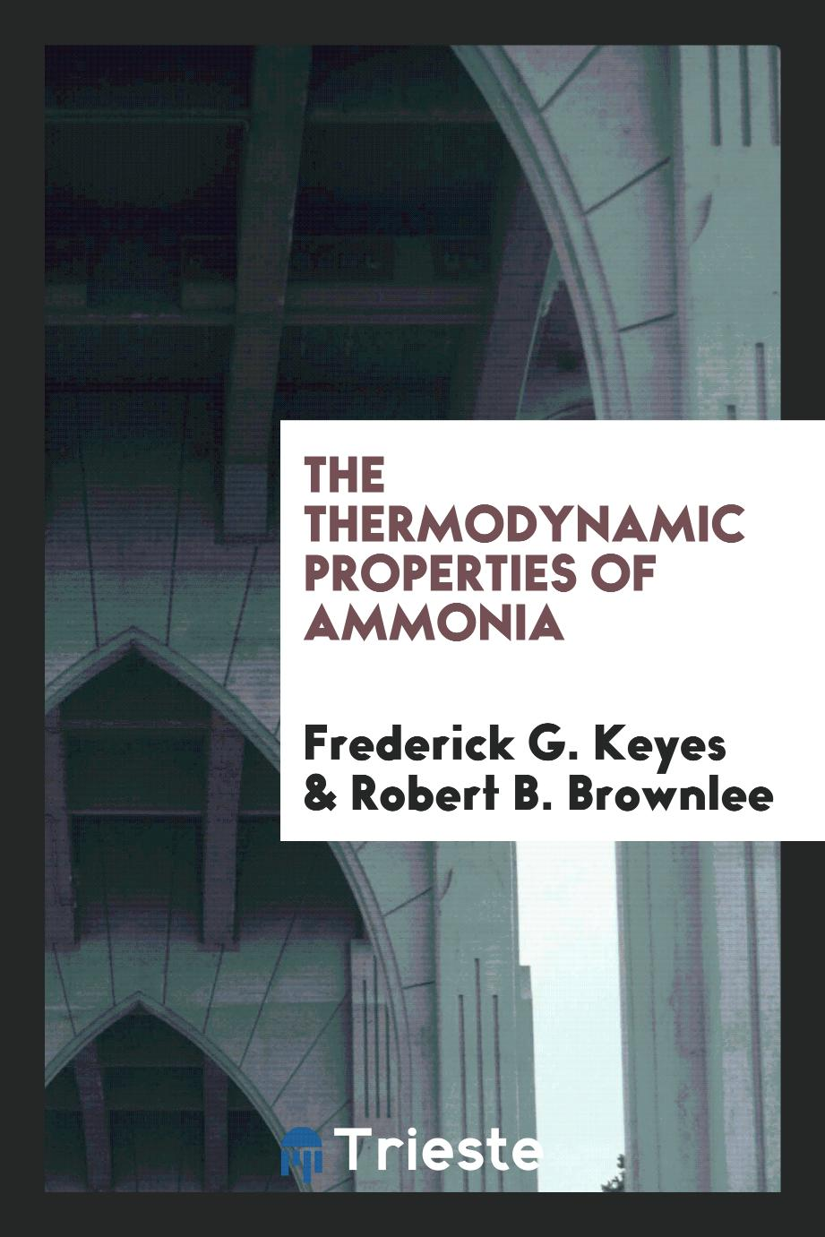 The thermodynamic properties of ammonia