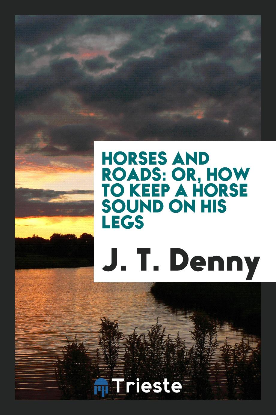 Horses and roads: or, how to keep a horse sound on his legs