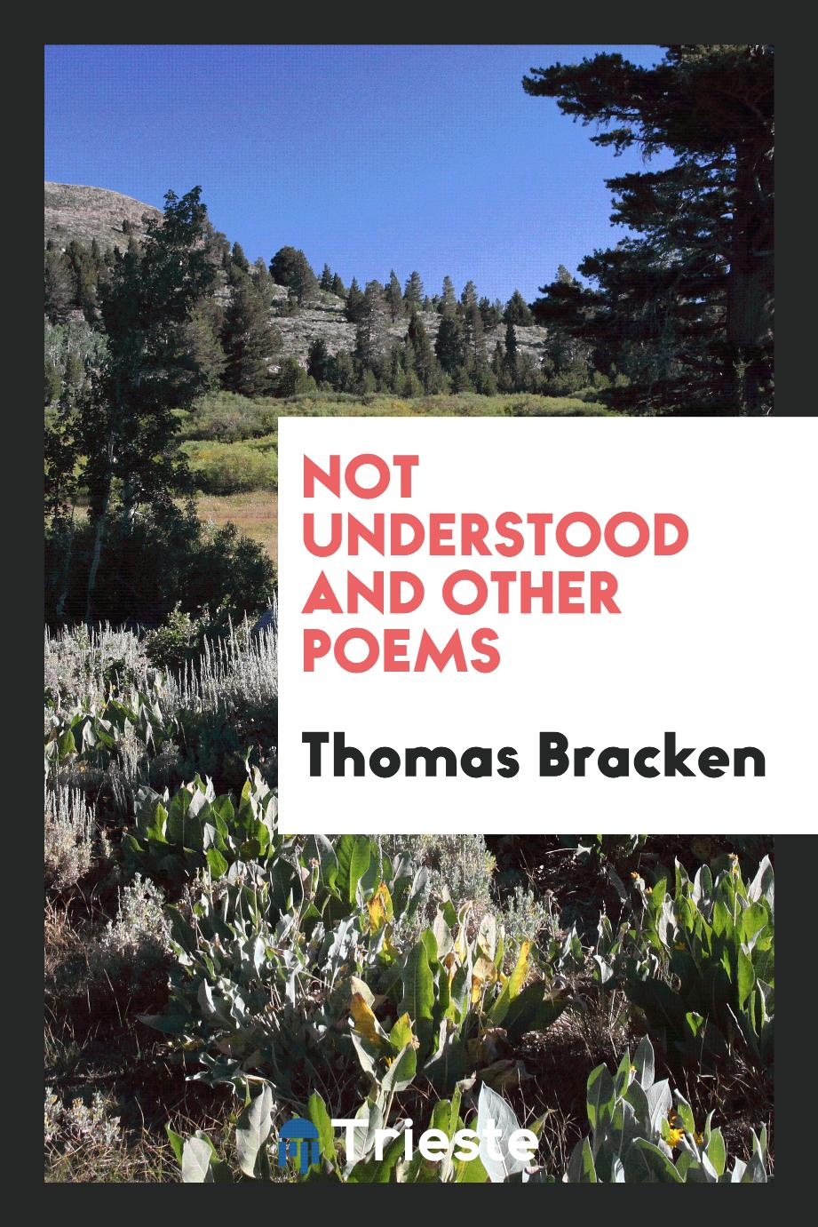 Not Understood and Other Poems