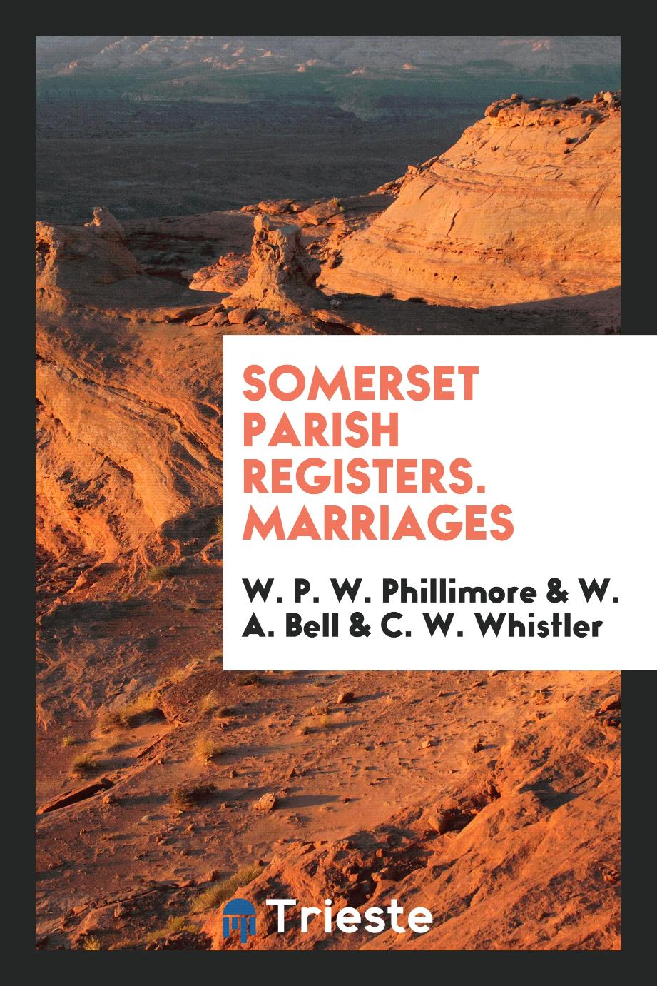 Somerset parish registers. Marriages