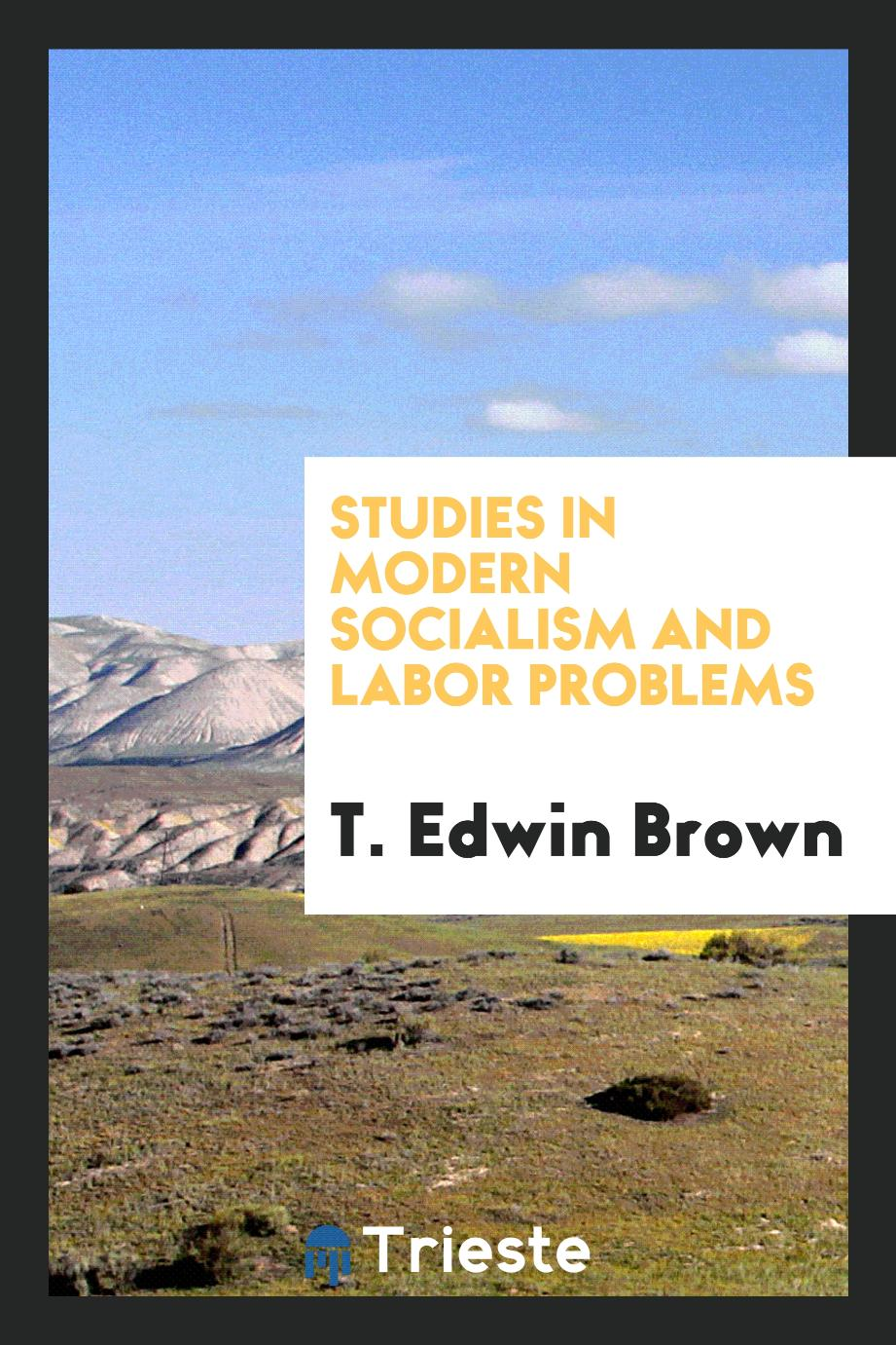 Studies in modern socialism and labor problems