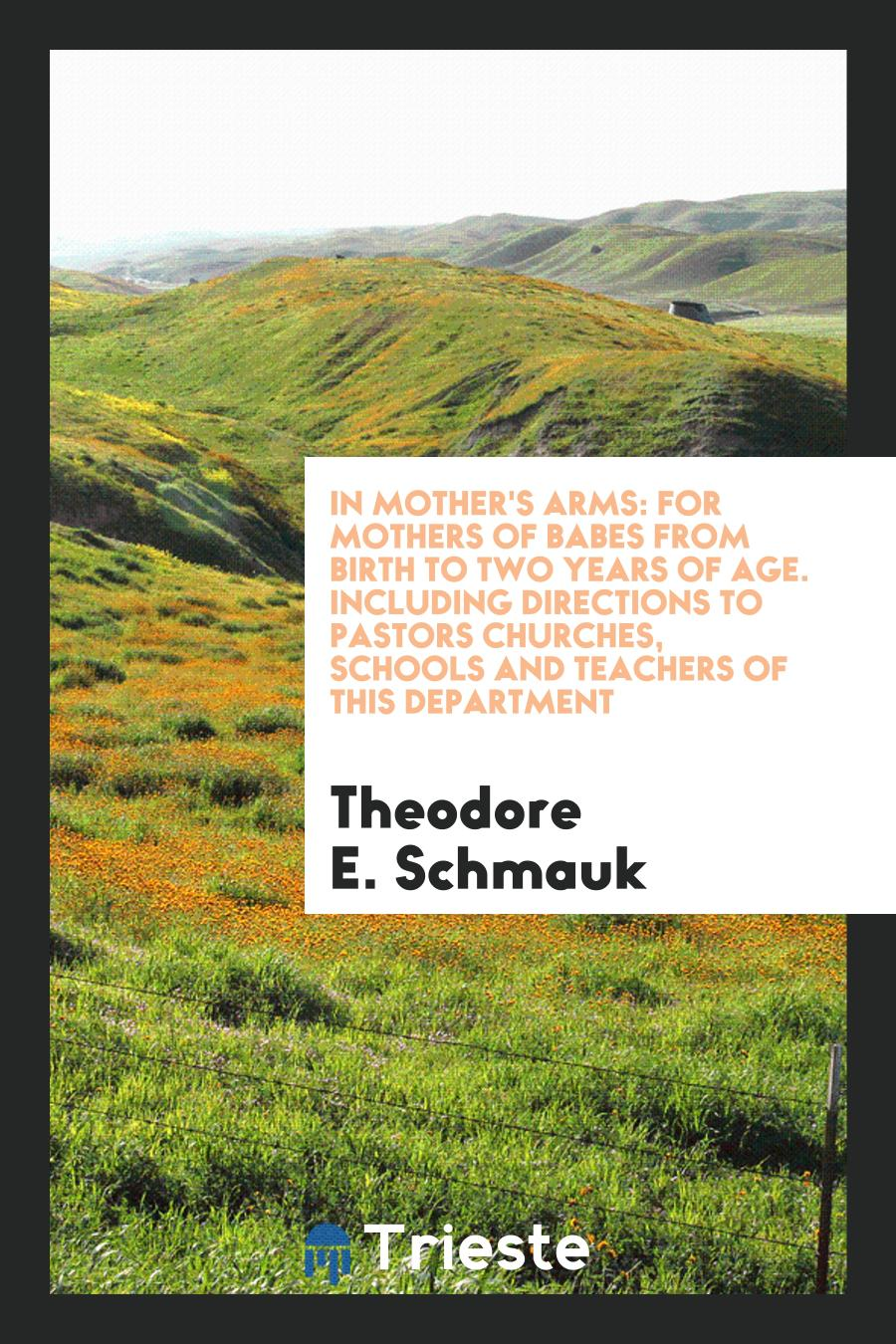 In Mother's Arms: For Mothers of Babes from Birth to Two Years of Age. Including Directions to Pastors Churches, Schools and Teachers of This Department