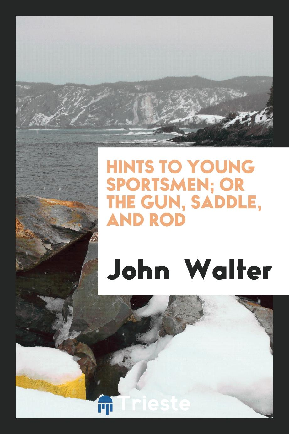 HINTS TO YOUNG SPORTSMEN; or the gun, saddle, and rod