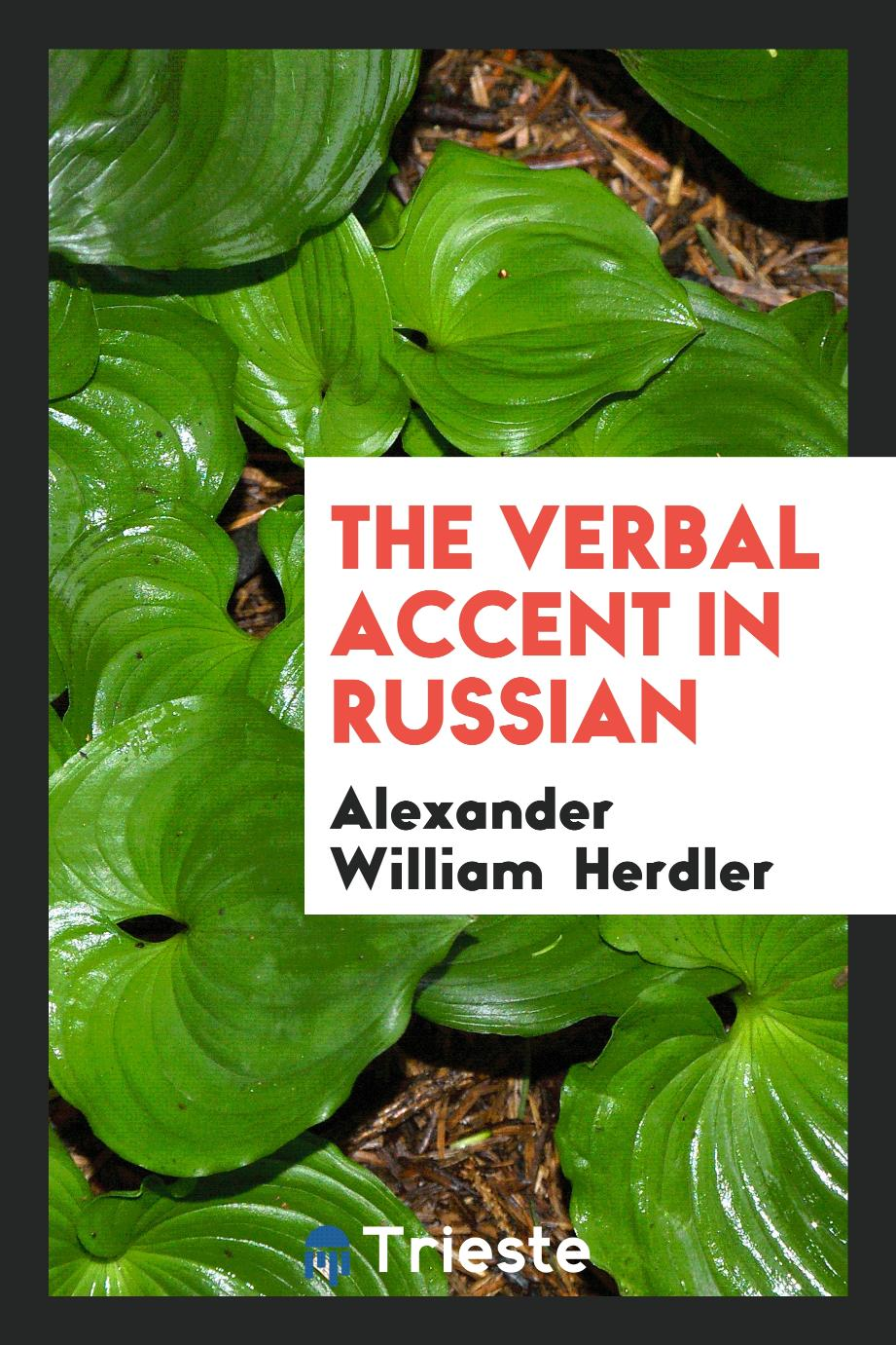 The Verbal Accent in Russian