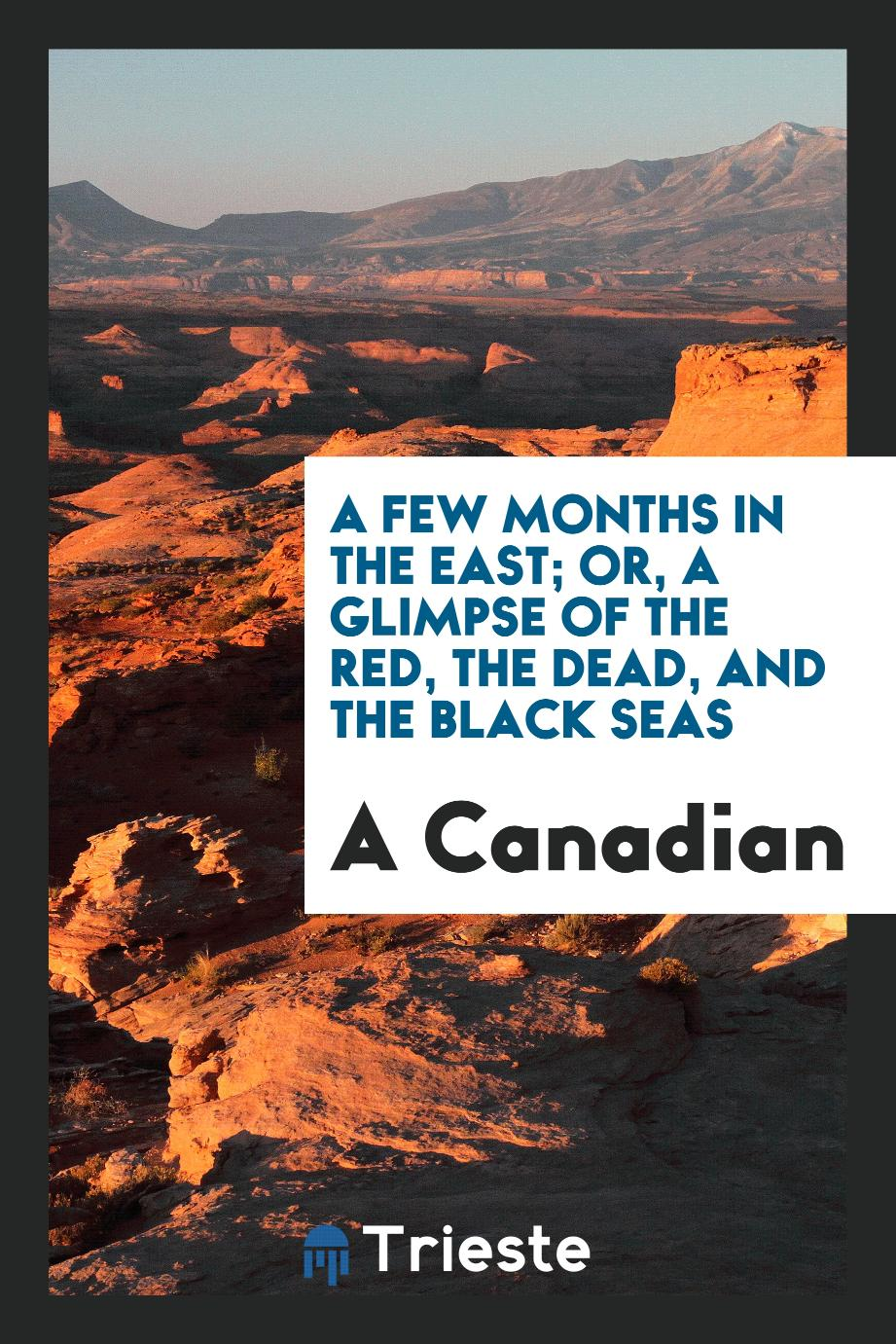 A Few Months in the East; Or, a Glimpse of the Red, the Dead, and the Black Seas