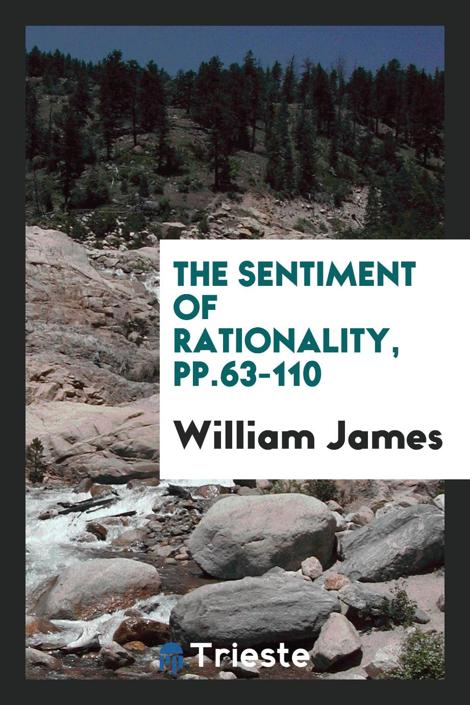 The Sentiment of Rationality, pp.63-110