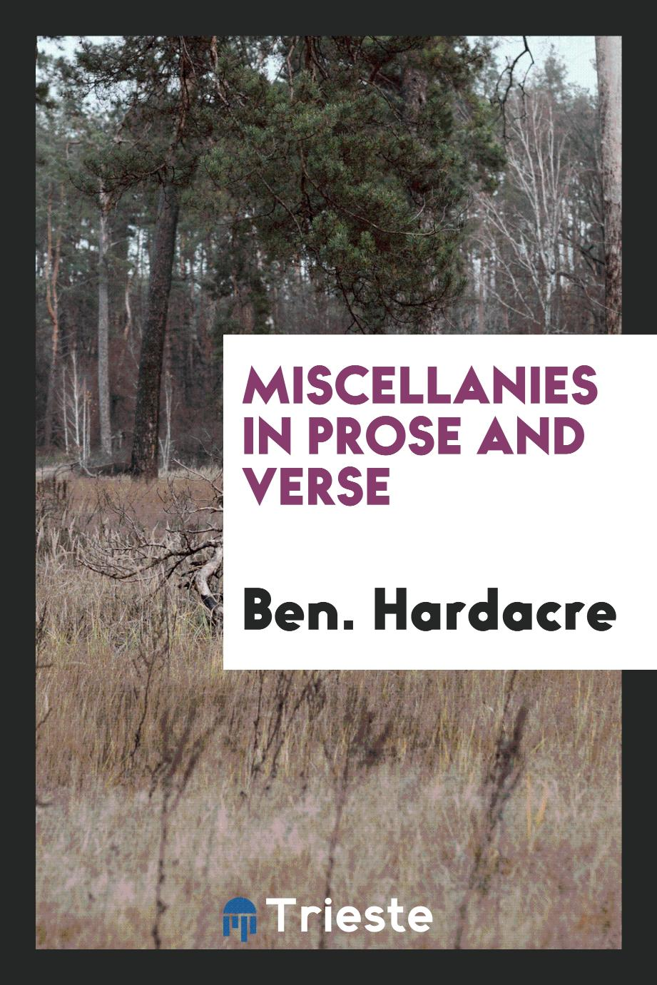 Miscellanies in Prose and Verse