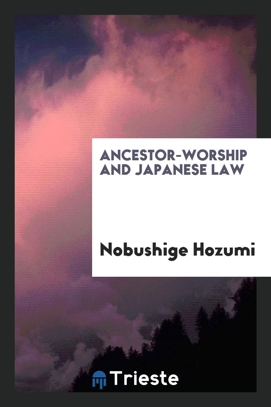 Ancestor-worship and Japanese Law
